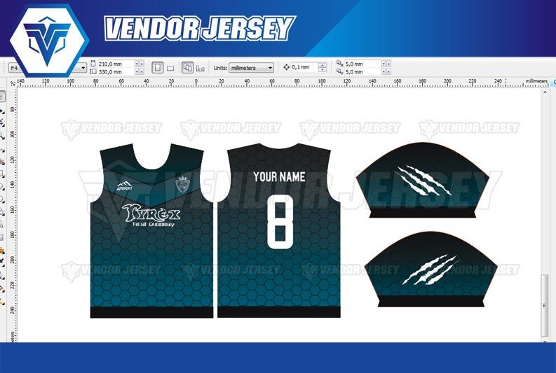 Buat Jersey Futsal Printing di Bekasi desain nama nomor sendiri