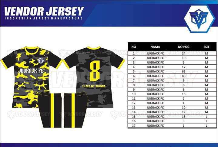 Konveksi Kaos Bola Di Bekasi desain custom nama sendiri