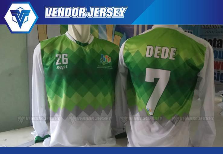 Pembuatan Jersey Futsal Printing di Bekasi lengan pendek lengan panjang