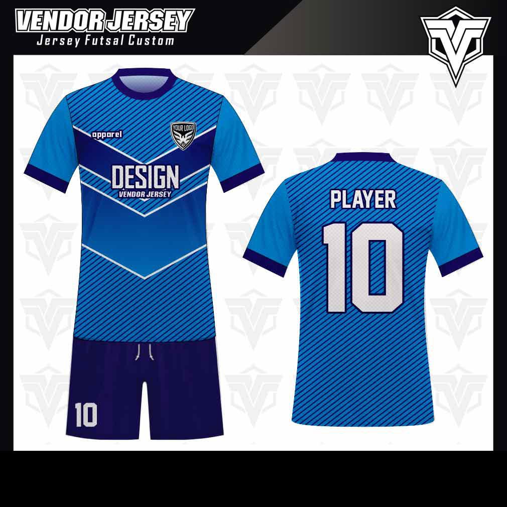 desain baju futsal bekasi biru keren
