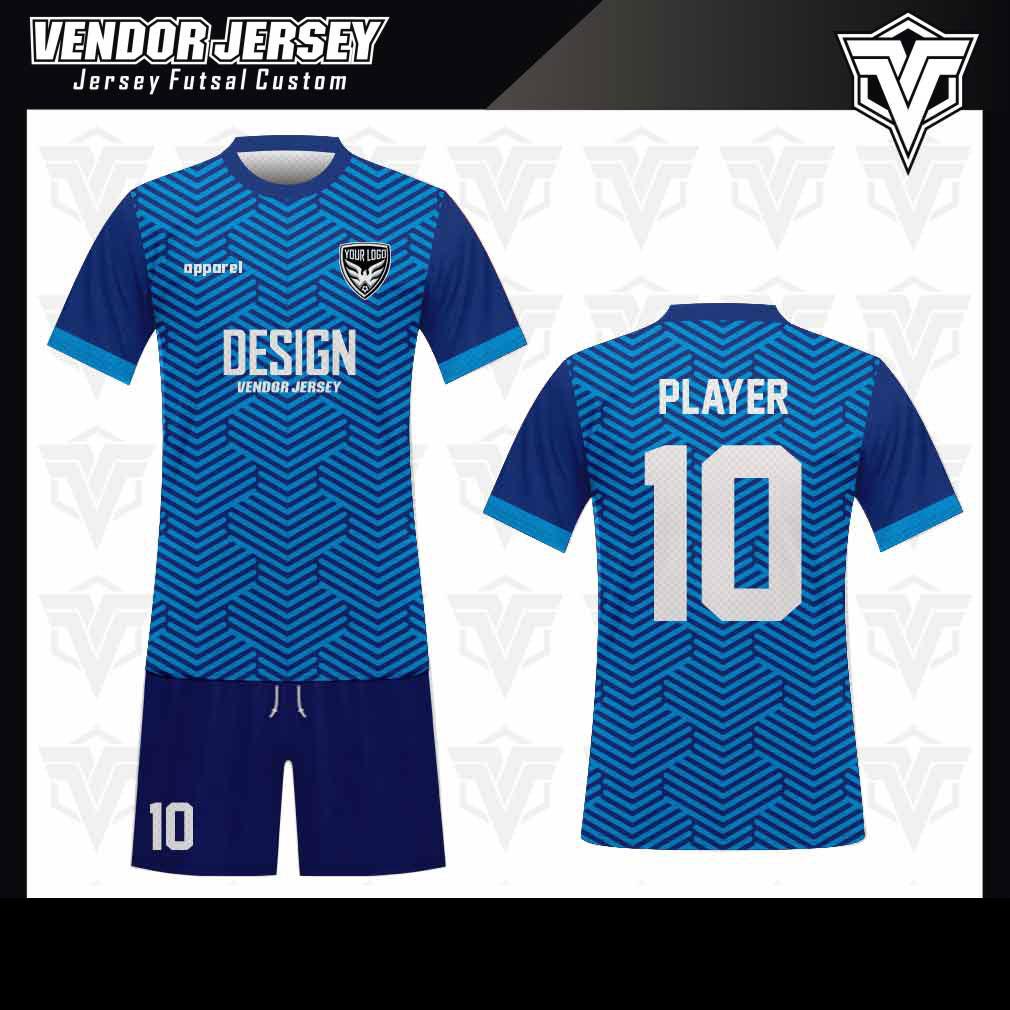 desain baju futsal bekasi biru muda