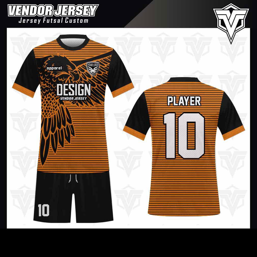 desain baju futsal bekasi burung elang