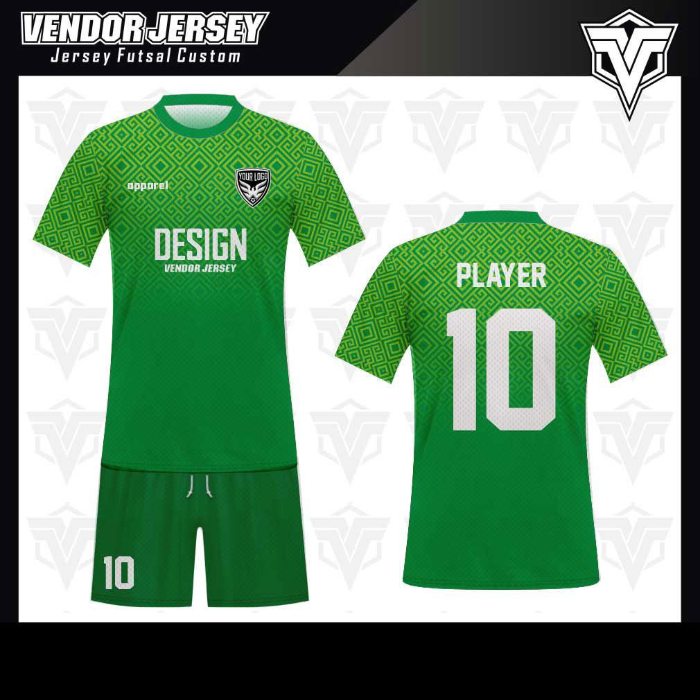 desain baju futsal bekasi hijau keren
