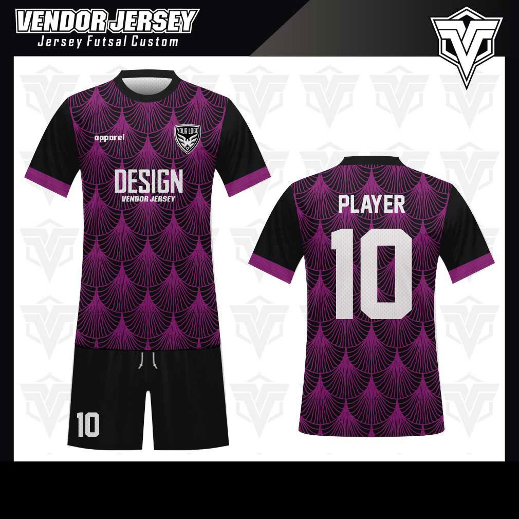 desain baju futsal bekasi ungu keren