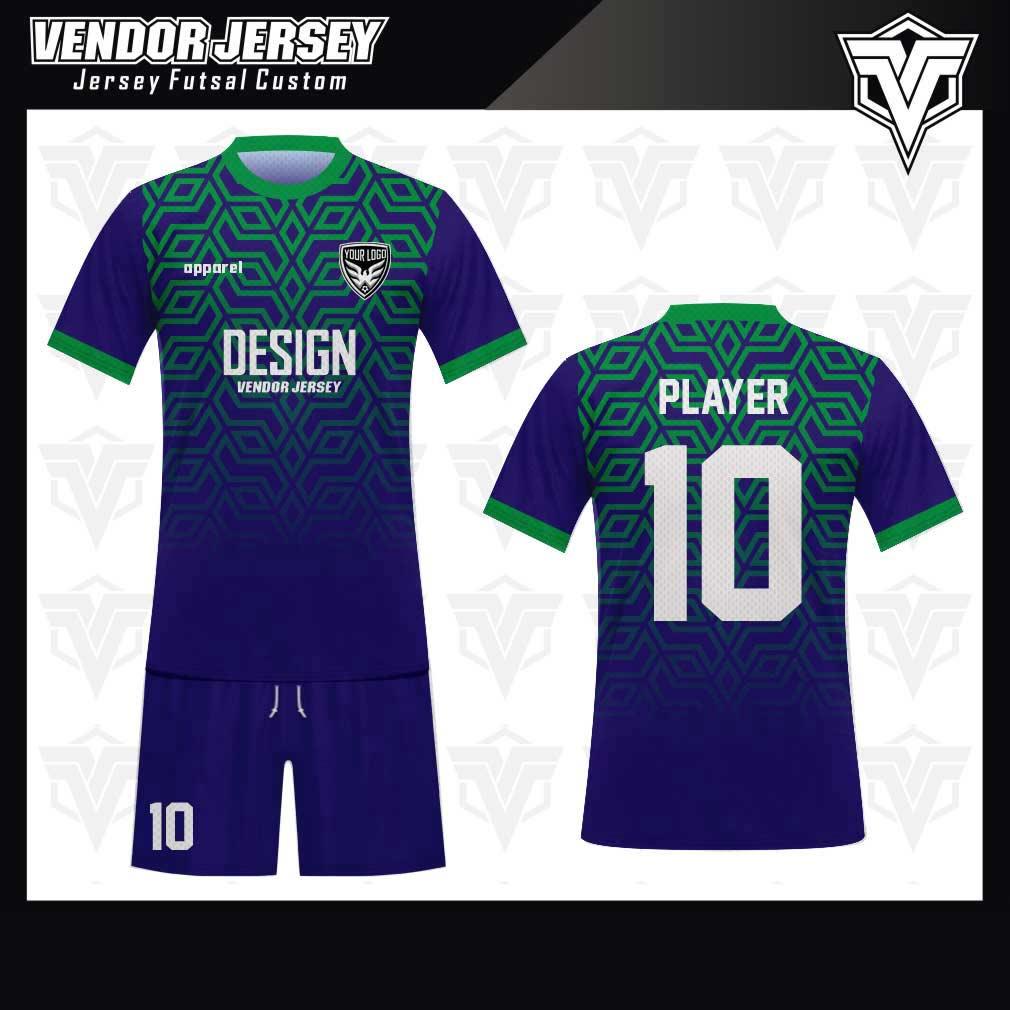 desain jersey futsal bekasi biru hijau