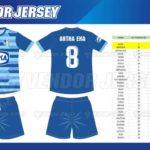 Jasa Pembuatan Seragam Futsal di Bekasi desain custom