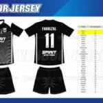 Tempat Bikin Kaos Futsal Printing di Bekasi desain sendiri