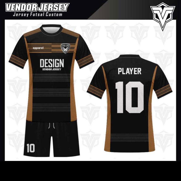 desain baju futsal bekasi hitam abu