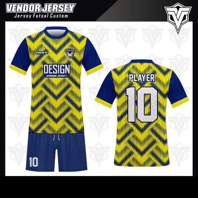 desain baju futsal bekasi kuning biru
