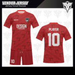 desain baju futsal bekasi merah terbaik