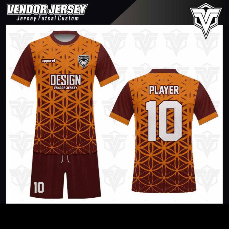 desain baju futsal bekasi orange