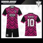 desain baju futsal bekasi pink hitam
