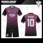 desain baju futsal bekasi ungu hitam