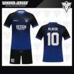 desain jersey futsal bekasi biru gradasi hitam