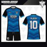 desain jersey futsal bekasi biru muda keren