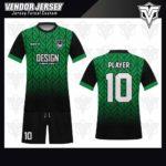 desain jersey futsal bekasi gradasi hijau hitam