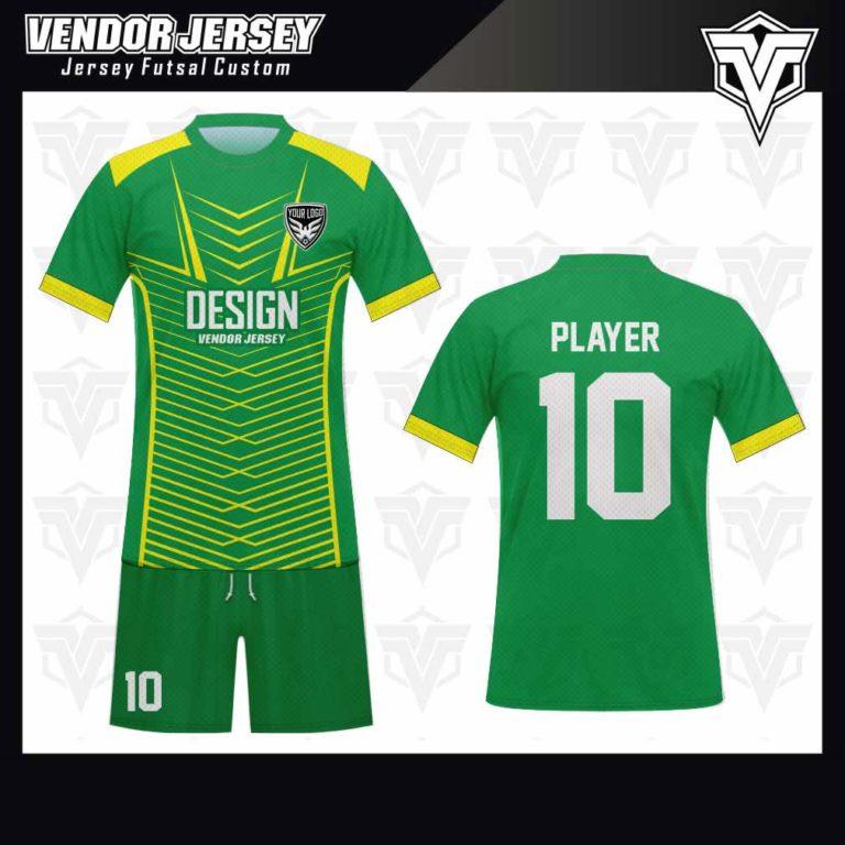 desain jersey futsal bekasi hijau kuning