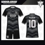 desain jersey futsal bekasi hitam abu