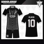 desain jersey futsal bekasi hitam putih