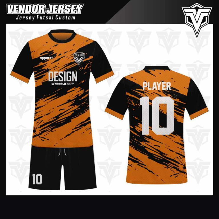 desain jersey futsal bekasi keren orange