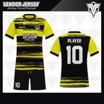desain jersey futsal bekasi kuning hitam