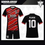 desain jersey futsal bekasi merah hitam keren