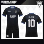 desain jersey futsal bekasi terbaik hitam