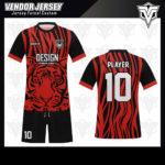 desain kaos futsal bekasi macan merah